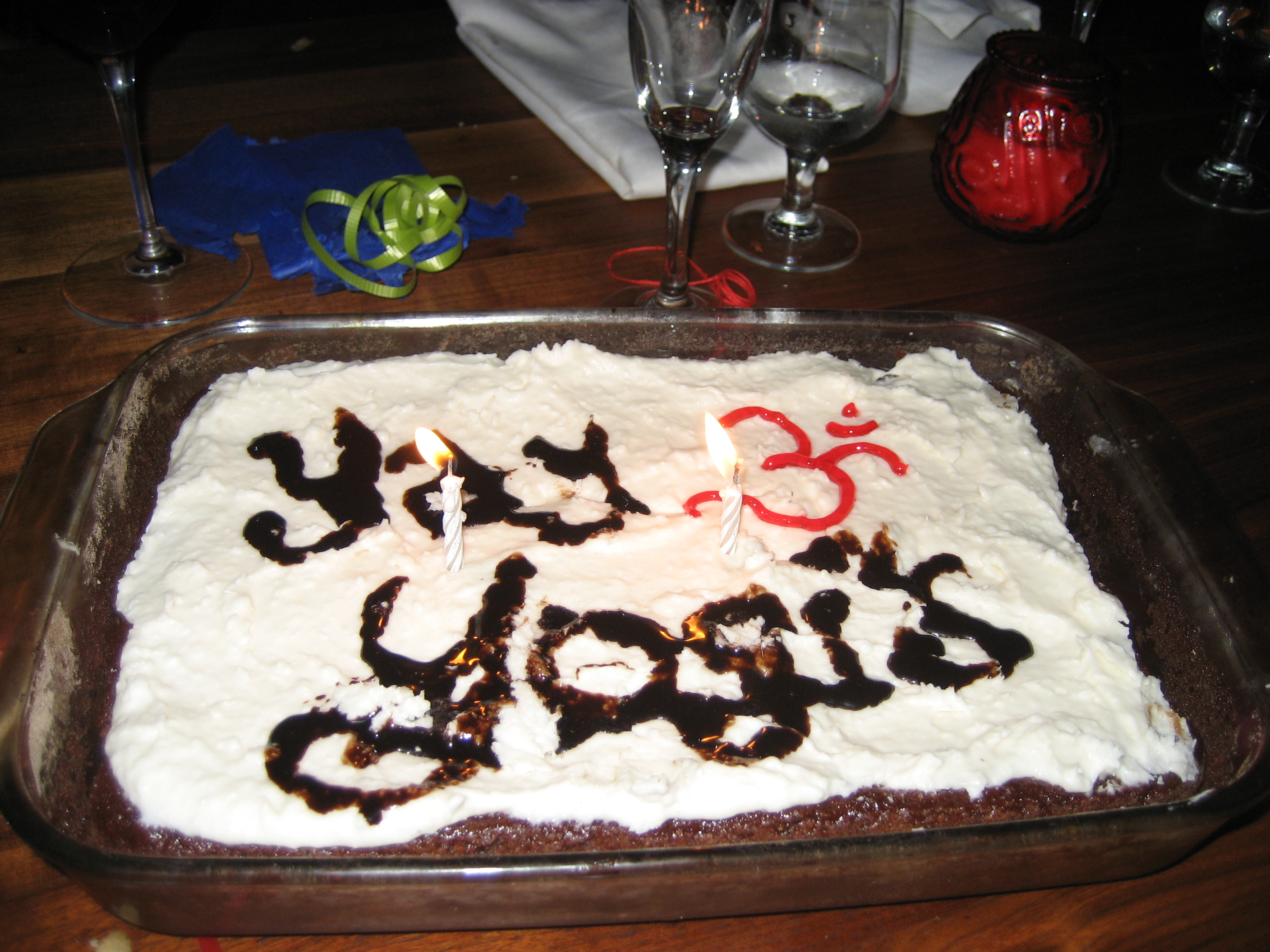 Yoga is good for you. See? It's on a cake!
