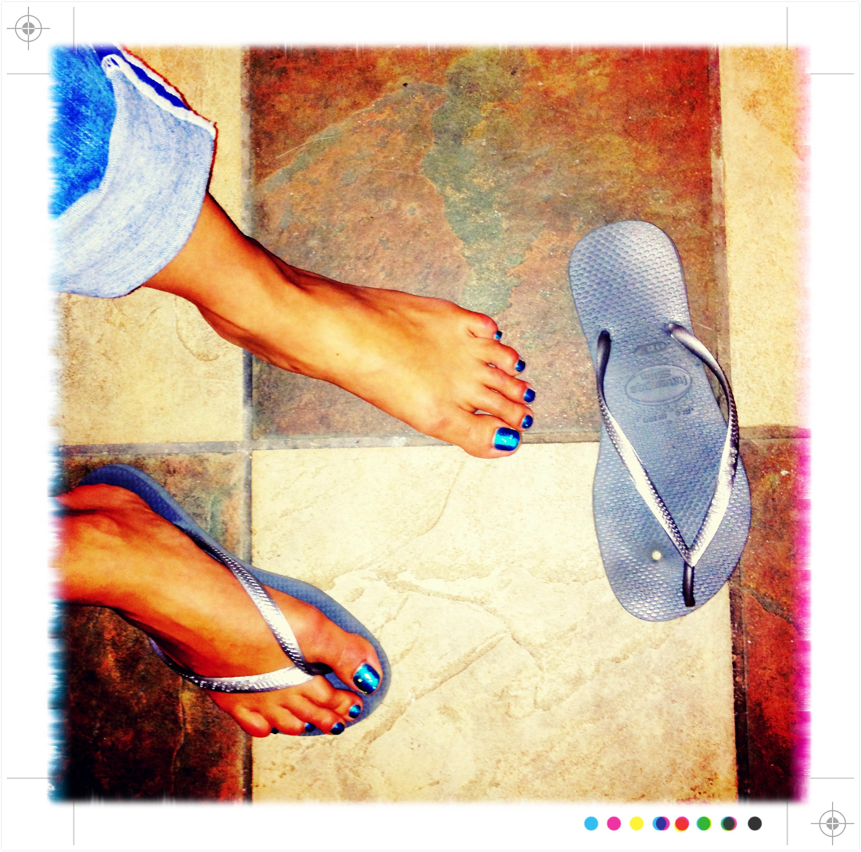 broken sandals